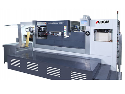 Die Cutting Foil Stamping Press 1050-F type Hot Foil Stamping Cutting Line